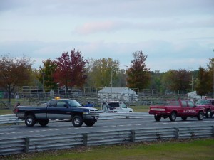 Pulling the Barrier Back Into Place with a Tow Truck