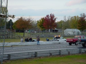 Wrecked Camaro, Smashed Barrier